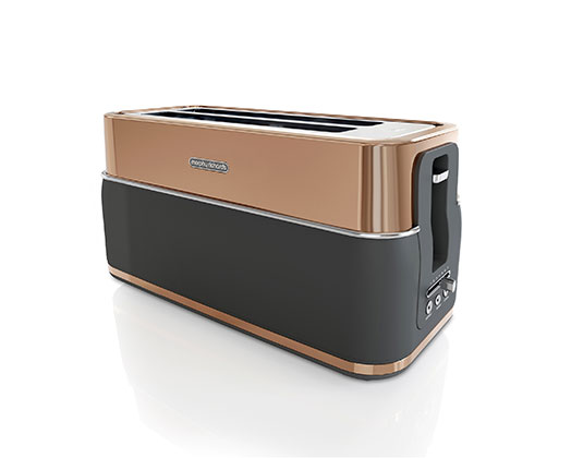 """Morphy Richards Toaster 4 Slice Stainless Steel Copper 1750W """"Signature"""""""