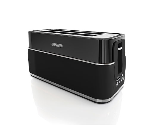 """Morphy Richards Toaster 4 Slice Stainless Steel Black 1750W """"Signature"""""""