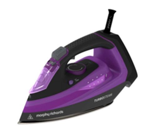 "Morphy Richards Iron Steam / Dry / Spray Ceramic Purple 380ml 2800W ""Turbo Steam"""