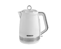 "Morphy Richards Kettle 360 Degree Cordless Stainless Steel White 1.7L 3000W ""Illumination"""