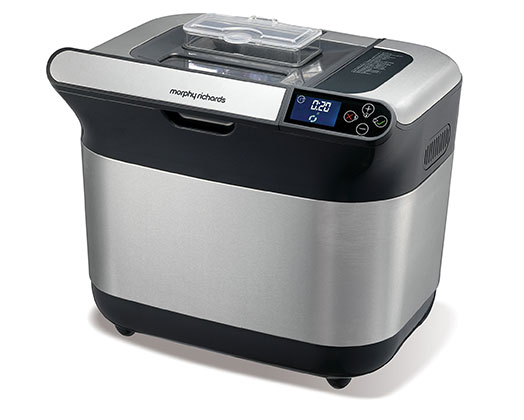 Morphy Richards Bread Maker With Fruit And Nut Dispenser Fully Automatic Stainless Steel Silver 19 Programs 600W