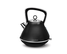 "Morphy Richards Kettle 360 Degree Cordless Stainless Steel Black 1.5L 2200W ""Evoke"""