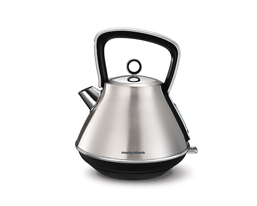 "Morphy Richards Kettle 360 Degree Cordless Stainless Steel Brushed 1.5L 2200W ""Evoke"""