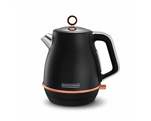 "Morphy Richards Kettle Jug 360 Degree Cordless Stainless Steel Black 1.5L 3000W ""Evoke Rose gold"""