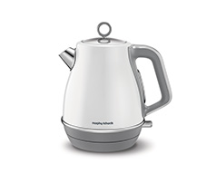 "Morphy Richards Kettle 360 Degree Cordless Stainless Steel White 1.5L 3000W ""Evoke"""