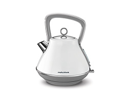 "Morphy Richards Kettle 360 Degree Cordless Stainless Steel White 1.5L 2200W ""Evoke"""