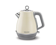 "Morphy Richards Kettle 360 Degree Cordless Stainless Steel Cream 1.5L 3000W ""Evoke"""