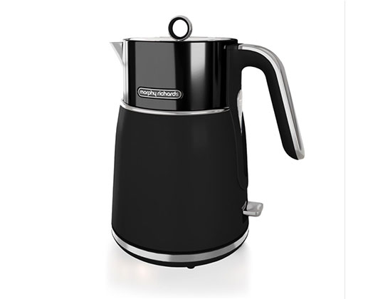 """Morphy Richards Kettle 360 Degree Cordless Stainless Steel Black 1.5L 3000W """"Signature"""""""