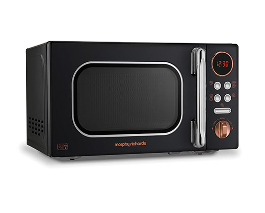 "Morphy Richards Microwave Digital Stainless Steel Black 20L 800W ""Accents Rose Gold"""