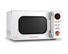 "Morphy Richards Microwave Digital Stainless Steel White 20L 800W ""Accents Rose Gold"""