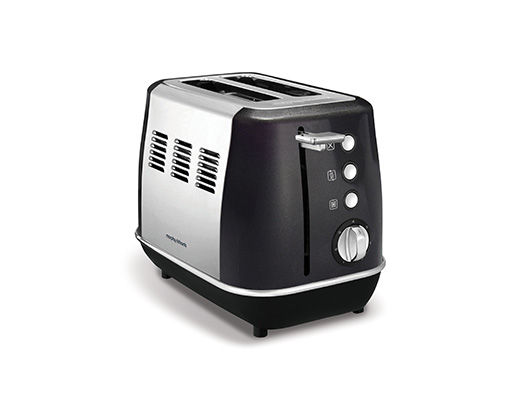 "Morphy Richards Toaster 2 Slice Stainless Steel Black 900W ""Evoke"""