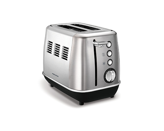 "Morphy Richards Toaster 2 Slice Stainless Steel Brushed 900W ""Evoke"""