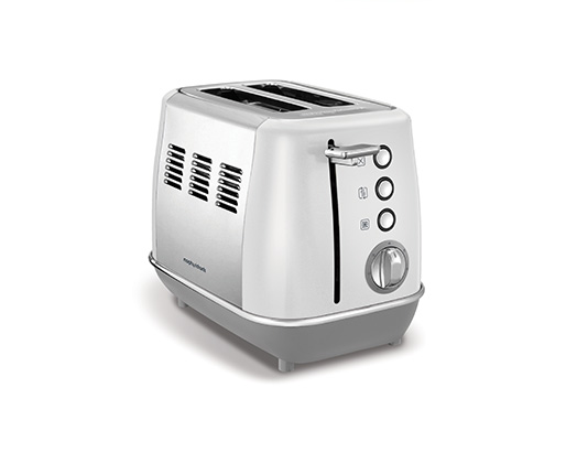 "Morphy Richards Toaster 2 Slice Stainless Steel White 900W ""Evoke"""