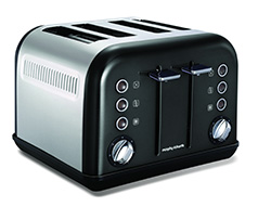 1800W Black Accents 4 Slice Toaster