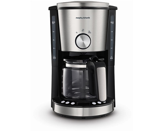 "Morphy Richards Coffee Maker Drip Filter Digital Brushed 1.2L 1000W ""Evoke"""