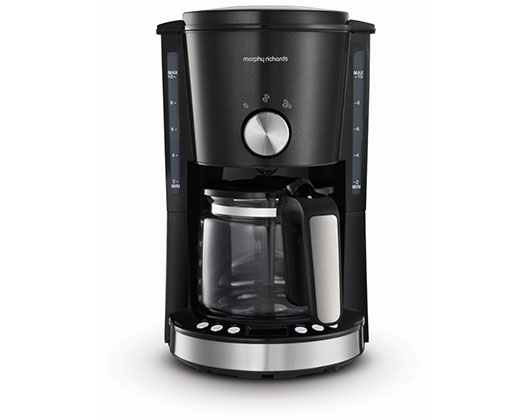 "Morphy Richards Coffee Maker Drip Filter Digital Black 1.2L 1000W ""Evoke"""