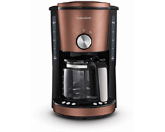 "Morphy Richards Coffee Maker Drip Filter Digital Bronze 1.2L 1000W ""Evoke"""