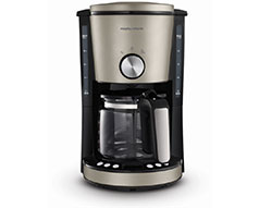"Morphy Richards Coffee Maker Drip Filter Digital Platinum 1.2L 1000W ""Evoke"""