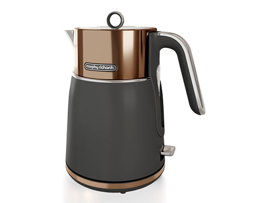 """Morphy Richards Kettle 360 Degree Cordless Stainless Steel Copper 1.5L 3000W """"Signature"""""""