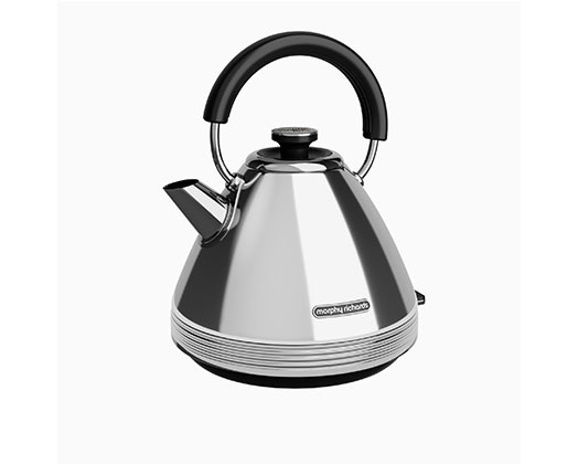 Morphy Richards Kettle 360 Degree Cordless Stainless Steel Polished 1.5L 3000W ''Venture Retro''