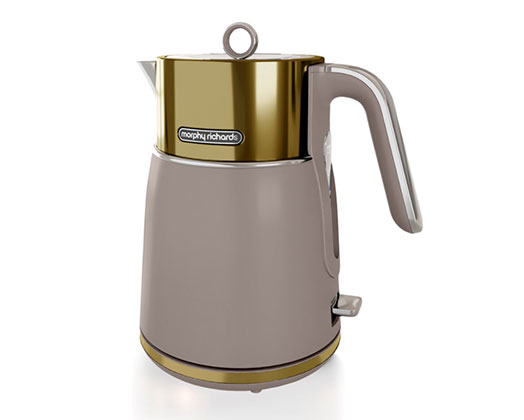 """Morphy Richards Kettle 360 Degree Cordless Stainless Steel Gold 1.5L 3000W """"Signature"""""""