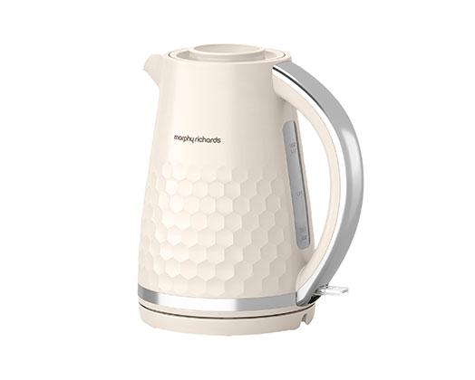 "Morphy Richards Kettle 360 Degree Cordless Plastic Cream 1.5L 3000W ""Hive"""