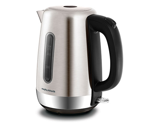 """Morphy Richards Kettle 360 Degree Cordless Stainless Steel Brushed 1.7L 3000W """"Equip"""""""