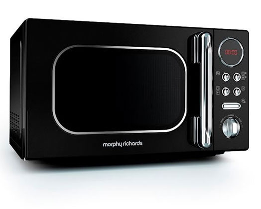 "Morphy Richards Microwave Digital Stainless Steel Black 20L 800W ""Accents"""