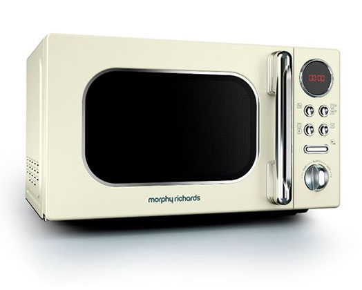 "Morphy Richards Microwave Digital Stainless Steel Cream 20L 800W ""Accents"""