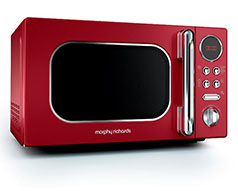 "Morphy Richards Microwave Digital Stainless Steel Red 20L 800W ""Accents"""