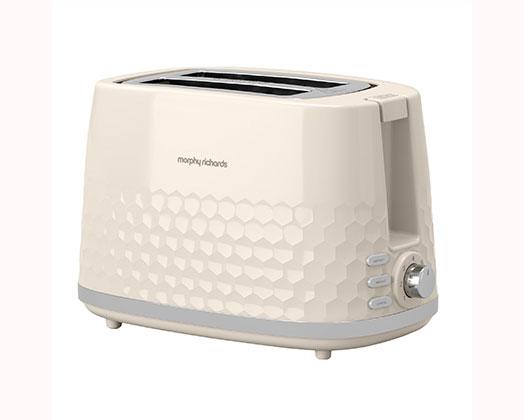 "Morphy Richards Toaster 2 Slice Plastic Cream 850W ""Hive"""