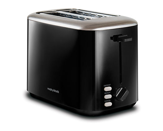 """Morphy Richards Toaster 2 Slice Stainless Steel Black 800W """"Equip"""""""
