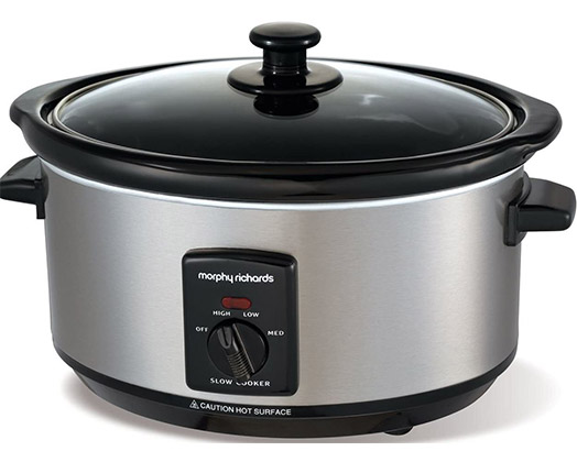 Morphy Richards Slow Cooker Manual Ceramic Stainless Steel 3.5L 170W #