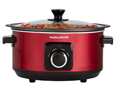 "Morphy Richards Slow Cooker Manual Aluminium Red 6.5L 163W ""Sear and Stew"""