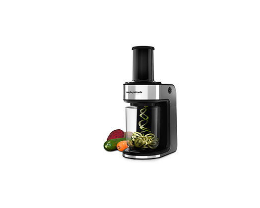 "Morphy Richards Food Processor Stainless Steel Black ""Spiralizer Express"""