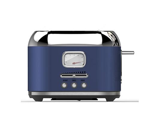 """Taurus Toaster 2 Slice Stainless Steel Midnight Blue 6Heat Settings 1000W """"Eterna Vintage"""""""