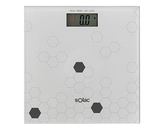 "Solac Bathroom Scale Auto Off Switch LED Display Glass Grey ""Digital"""