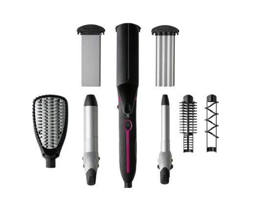 """Solac Hair Curler 7 In 1 Black 50W """"Expert Total Style"""""""