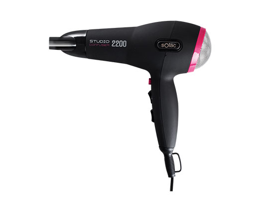 "Solac Hair Dryer DC Motor Black 2 Speed 2200W ""Studio Diffuser 2200"""