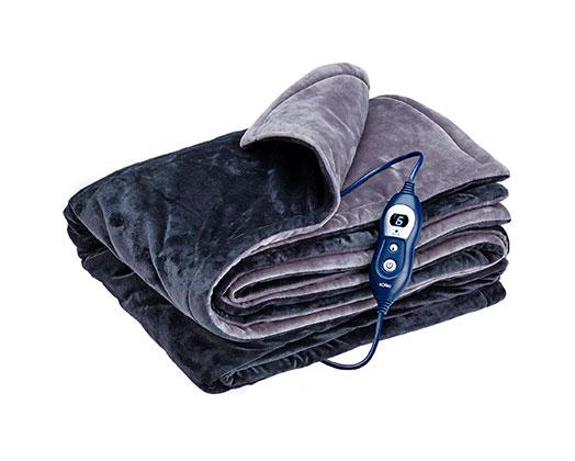 "Solac Electric Throw Over Blanket Grey 180 x 140cm 120W ""Reykjavik blanket"""