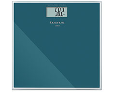 "Taurus Bathroom Scale Battery Operated Glass Teal 180kg 3V ""Lisboa"""