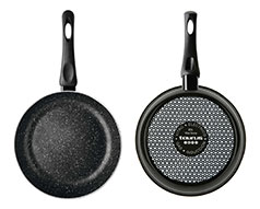 "Taurus Frying Pan Enamel Black 24cm ""Vital Stone"""