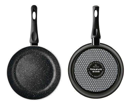 "Taurus Frying Pan Enamel Black 28cm ""Vital Stone"""