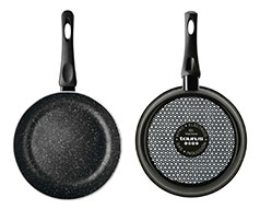 "Taurus Frying Pan Enamel Black 28cm ""Vital Stone"""