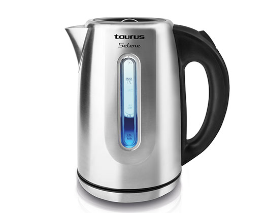 "Taurus Kettle 360 Degree Cordless Stainless Steel Brushed 1.7L 2200W ""Selene"""