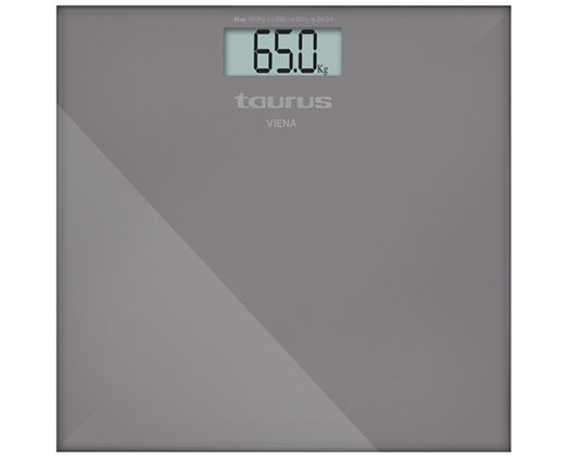 "Taurus Bathroom Scale Battery Operated Glass Stone 180kg 3V ""Viena"""