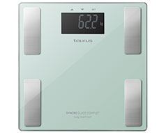 "Taurus Bathroom Scale Battery Operated Glass Teal 180kg 3V ""Syncro Glass Complete"""