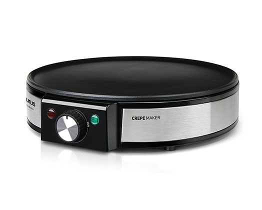 "Taurus Crepe Maker Variable Heat Settings Stainless Steel Black 30cm 1200W ""Crepe"""