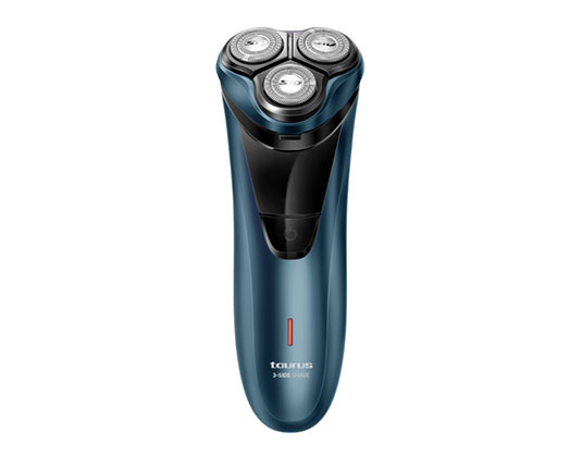 "Taurus Shaver Triple Head Battery Operated Blue Cordless Operation 3W ""3 Side Shaver"""