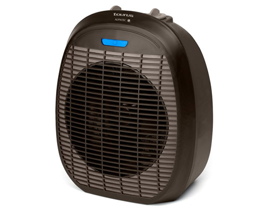 "Taurus Heater Floor Fan Black 2 Heat Settings 2400W ""Tropicano 3.5"""